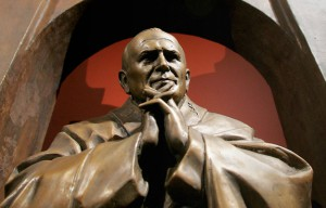 Model of monument to Pope John Paul II on display in Moscow